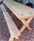 Custom Redwood Picknic Tables, Outdoor Furniture, Redwood Furniture, Custom Millwork