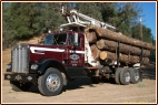 Logging, Log Trucking, Kenworth, 1972 Classic Truck, Timber, Self Loader, Self loading short log truck