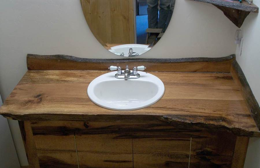 red rustic bar tops wood vanity top get started on liberating your interior design at